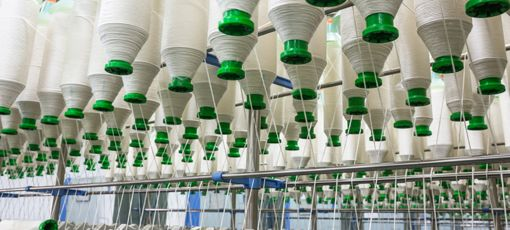 Photo of cotton yarn manufacture