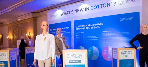 Photo of the entrance of a COTTON USA event
