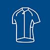 icono lineal de una camisa deportiva