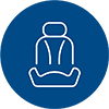line icon of a car seat