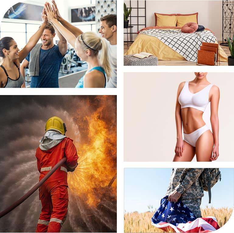 Collage de diferentes productos de Buhler