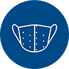 line icon of surgical mask