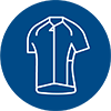 line icon of sport jersey