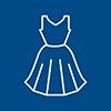 icono lineal de una vestido