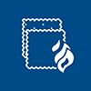 icono lineal de tela retardante del fuego