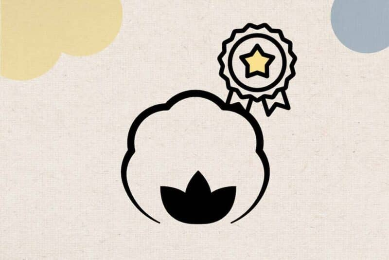 icon of a cotton and a star award ribbon